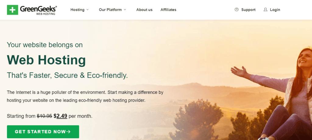 ECO-FRIENDLY WEBHOSTING